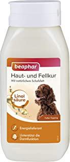 beaphar Haut- und Fellkur für Hunde mit wertvollen Linolsäuren und Omega 3 & 6, 430 ml