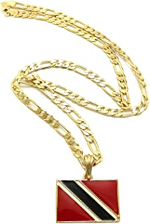 Trinidad and Tobago Flag Pendant with 5mm 24