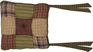 VHC Brands 8248  Tea Cabin Chair Pad Patchwork 15x15