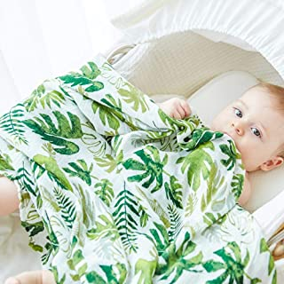 Anbenser Newborn Baby Receiving Blanket Super Soft Bamboo Fiber Allergy-Free Lightweight Toddler Receiving Wrap Swaddle Blanket for Boys Girls 47 X 47 inch Soft Breathable Cotton