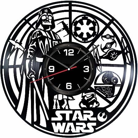 Darth Vader Vinyl Wall Clock Star Wars Handmade Clock Hanging Clock Wall Art Wall Decoration Star Wars Original Clock Modern Gift Star Wars Gift Darth Vader Art
