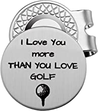 Memories Coding for Husband Boyfriend Golf Lover Golf Accessories Ball Marker - I Love You More Than You Love Golf