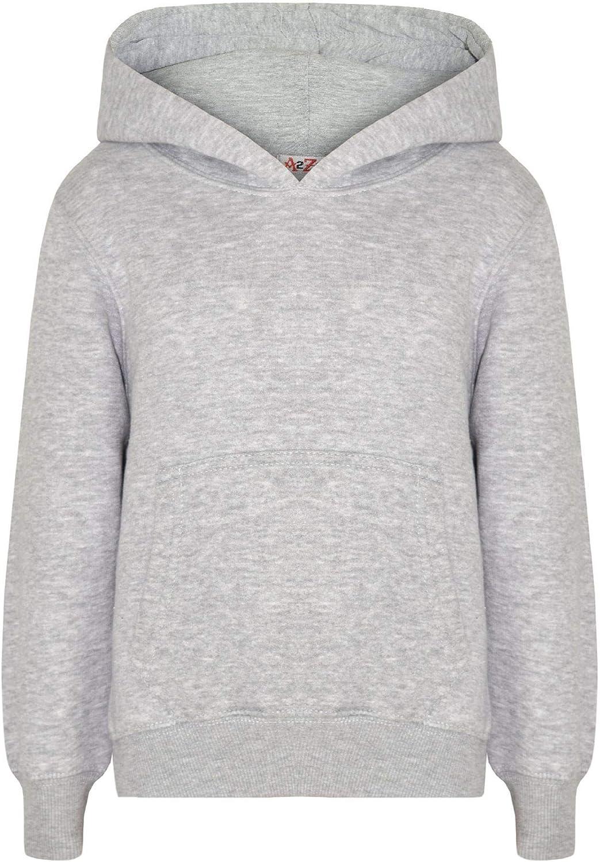 Kids Girls El Paso Mall Boys Sweatshirt Tops Hooded Free shipping on posting reviews Plain Jumpers Hoodie Grey