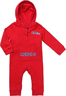 Fast Asleep Pjs Ole Miss Rebels Baby and Toddler Hooded Romper