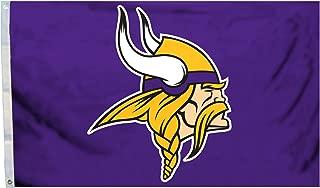 NFL Minnesota Vikings Logo Flag, 3 x 5-Feet