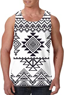 Men's Sleeveless Undershirt Summer Sweat Shirt Beachwear - Camera Doodle Pattern