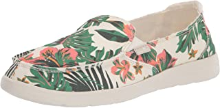 Sanuk womens Donna Lite Floral Loafer, White, 10 US