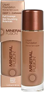 Mineral Fusion Liquid Foundation, Deep 1, 1 Ounce(Packaging May Vary)