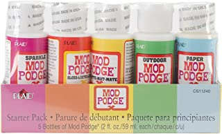 Mod Podge Waterbase Sealer, Glue Starter Pack (2-Ounce), CS11240 Clear Finish, 2 oz, Assorted Transparent