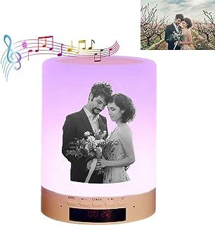 Luz De Noche Con Nombre De Foto Y Música Con Touchcontrol Lámpara Led Inalámbrica Portátil Con Bluetooth Con Caja De Aniversario Ideas De Cumpleaños De San Valentín Para Amantes Amigos