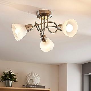 LED Proyector, foco 'Paulina' (Moderno) en Gris hecho de Metal e.o. para Salón & Comedor (3 llamas, E14, A+) de LINDBY | foco empotrado, lámpara de techo, lámpara de pared