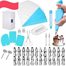 MISIMPO 82PCS Icing Piping Bags and Tips Cake Decorating Tools Set Supplies with 48 Icing Pastry Bag Icing Bag Tips Piping...