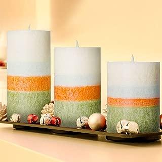 AMAGIC Layered Wax Flameless Candles (H4