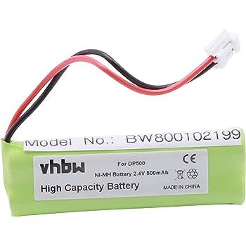 Vhbw Ni Mh Battery 500 Mah For Medion Tevion Md82622 Elektronik