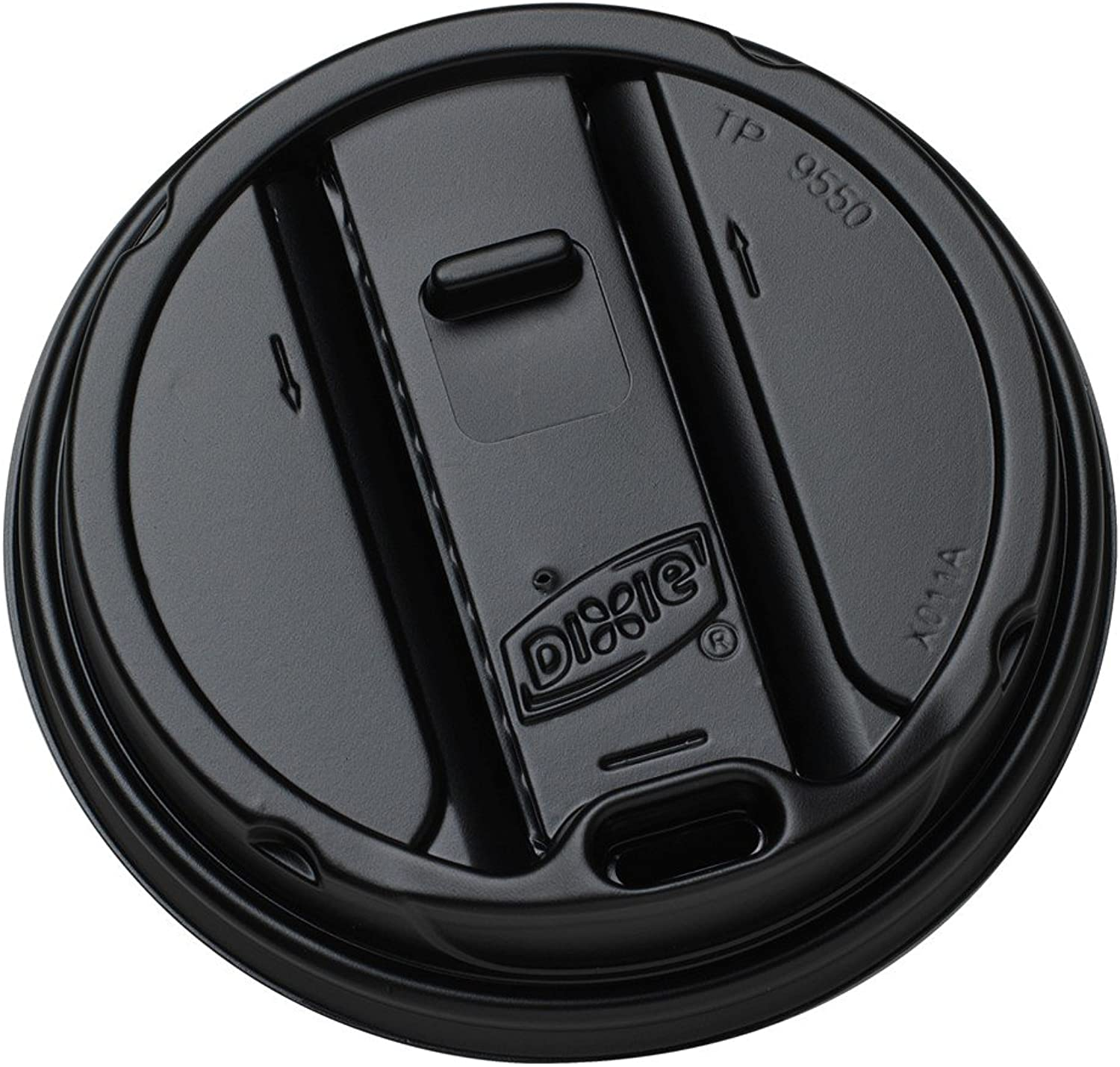 Dixie 20 and 24 oz. Reclosable Plastic Hot Cup Lid by GP PRO (Georgia-Pacific), Black, TP9550B, 1,000 Count (100 Lids Per Sleeve, 10 Sleeves Per Case)