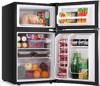 LEONARD USA 115 L Inverter Double Door Mini Refrigerator / Small Fridge with Separate Deep Freezer Compartment & Interior ...