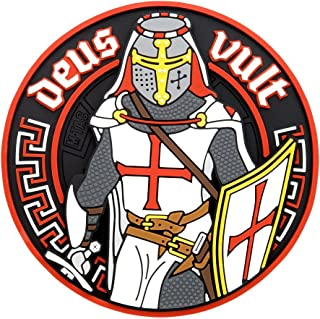 M-Tac Deus Vult Crusader PVC 3D Morale Patch Military & Tactical Army Rubber
