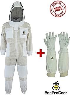 Completamente ventilato Bee Jackets JRV Giacca per Apicoltore apribile 3X a Strato Ultra ventilato di Sicurezza in Tessuto Velato Tondo