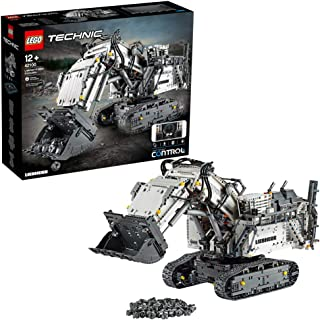 LEGO Technic - Excavadora Liebherr R 9800, Excavadora controlada por App, Funciona con los sistemas Power Function, incluye motores interactivos y se conecta por Bluetooth (42100)