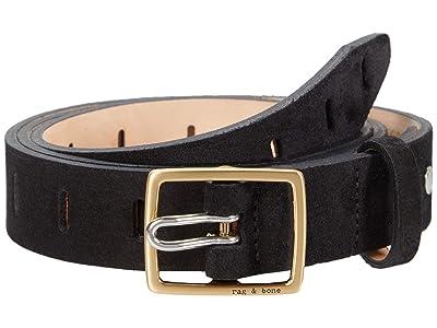 rag & bone Sidekick Belt (Black Suede) Women