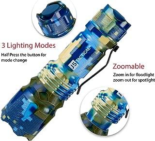 J5 Tactical V1-Pro Flashlight The Original 300 Lumen Ultra Bright, LED 3 Mode Flashlight, Blue Aqua