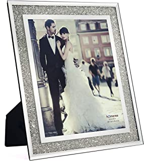 homeme Crystal Sparkle Mirror Glass Picture Frames (8 x 10)