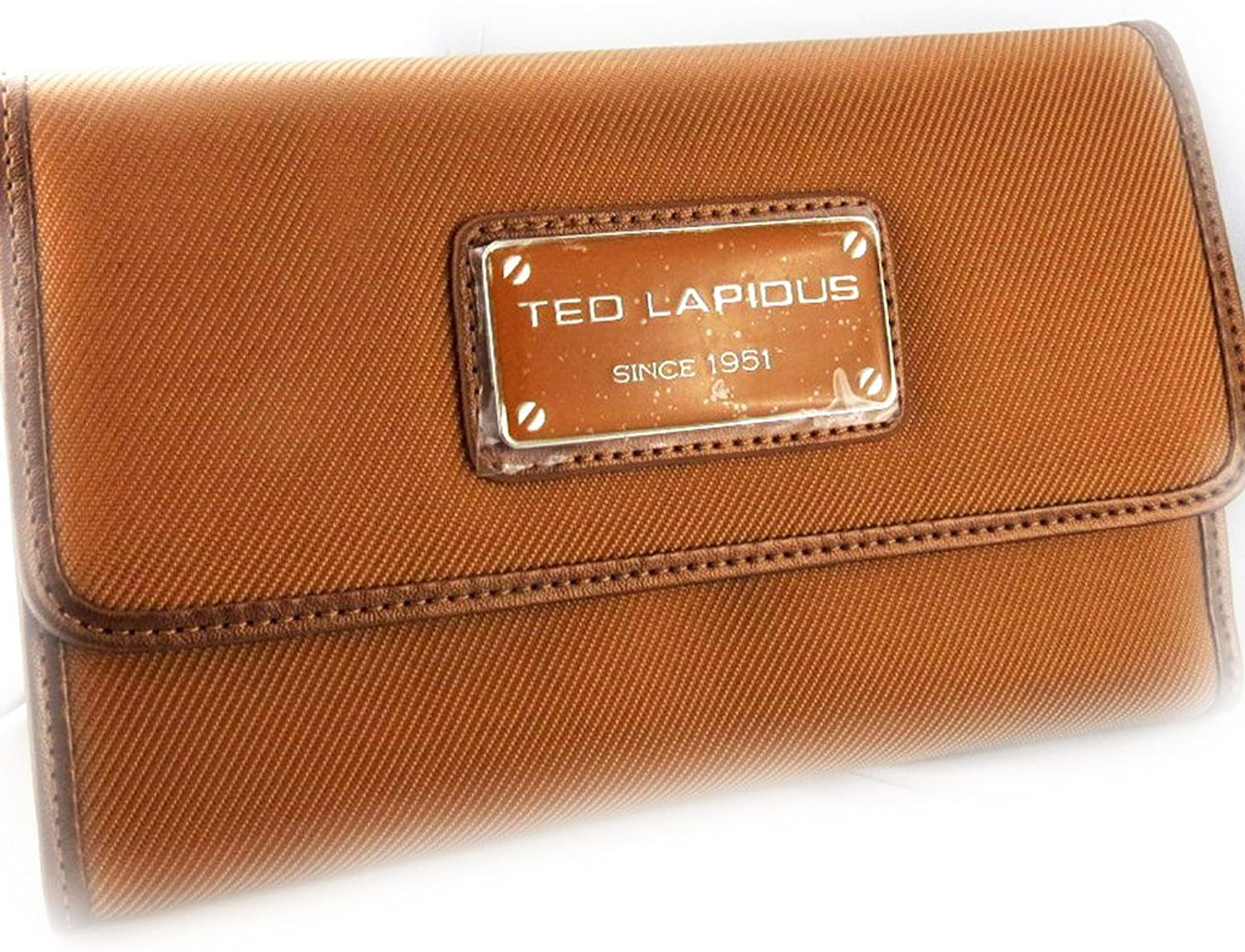 Grand wallet purse 'Ted Lapidus' camel.
