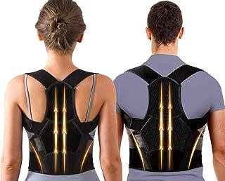 Back Posture Corrector for Women & Men with Spine Back Support,Breathable,Adjustable Upper and Middle Back Brace for Postu...