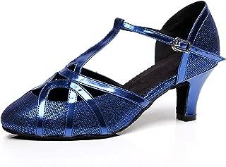 Women's T-Strap Glitter Salsa Tango Ballroom Latin Dance Shoes Wedding Pumps