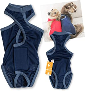 犬猫の服 full of vigor_メッシュ介護服マナーガード(R)(男女兼用)_5/ネイビー_DML_小型犬・ダックス用