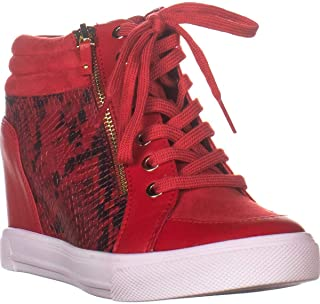 Aldo Kaia Hidden Wedge Fashion Sneakers, Red Snake