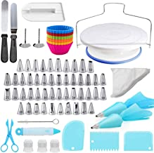 Cake Decorating Kit, 107 PCS Baking Supplies With 11 Inch Cake Turntable, Cake Sculpting Tools Icing Tips, Cake Spatulas, ...