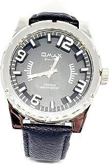 ساعة يد للرجال من اوماكس - رياضية، متعددة الألوان، مينا سوداء - سوار من الجلد - مقاومة للماء - Beeb1229