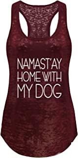 Tough Cookie's Women's Yoga Burnout Namastay at Home with My Dog Tank Top