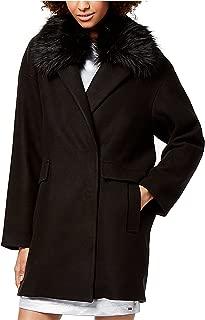 Armani Exchange Women's Faux-Fur-Collar Coat