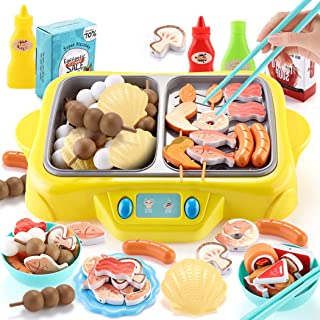 Coxeer 55PCS Pretend Play Toy Creative Cookware Utensil Toy Cooking Toy Set for Kids