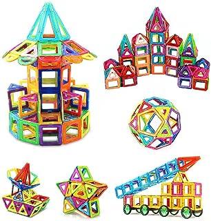 iKing マグネットおもちゃ ブロック 磁気おもちゃ 知育玩具 磁性構築ブロック 磁石ブロック 子ども オモチャ 子供 立体パズル 幼児 知育オモチャ 積み木 DIY マグネットブロック 車 ロボット 四角形 三角形など 立体磁気構造 想像力 創造力育てる 男の子 女の子 贈り物 誕生日 出産祝い ギフト 入園 クリスマス プレゼント 収納ケース付き 特許あり