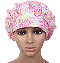 Doctor Classic Scrub Hat Adjustable Sweatband Bouffant Cap for Women Ponytail