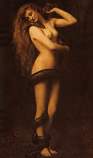 Spiffing Prints John Collier - Lilith 1887 - Large - Archival Matte - Black Frame