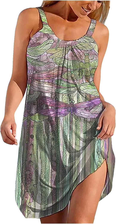 Gerichy Summer Dresses for Women, Women Sundress Casual Swing T Shirt Dresses Beach Cover up Loose Short Mini Tank Dress