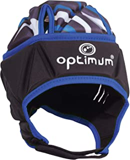 Optimum Men's Razor Headguard, Black/Blue, Small