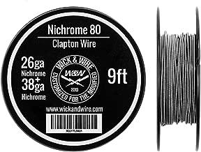 Clapton Wire - Heat Resistance Wire Spool (26ga Nichrome, 38ga Nichrome, 9 ft)