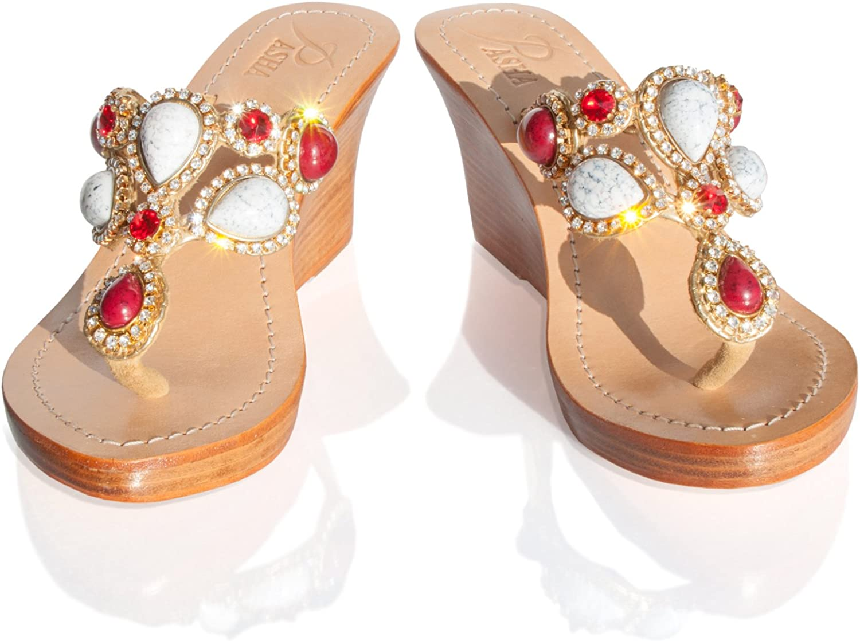 PASHA Gorgeous Jeweled Genuine Leather shoes, Style Nice