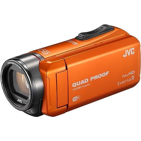 JVC ビデオカメラ Everio R 防水5m 防塵仕様 Wi-Fi対応 内蔵メモリー64GB オレンジ GZ-RX600-D