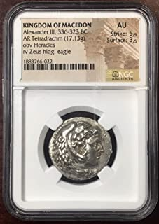 Kingdom of Macedon, Alexander The Great Silver Tetradrachm NGC AU