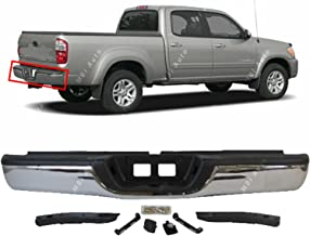 MBI AUTO - Steel Chrome, Rear Step Bumper Complete Assembly for 2000 2001 2002 2003 2004 2005 2006 Toyota Tundra, TO1103107