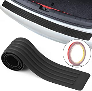 San Auto Car Rear Bumper Guard Protector Anti-Collision Patch Anti-Scrape Rubber Universal Trunk Door Entry Guards for Most Cars Non Slip Black with Tape 35 inch