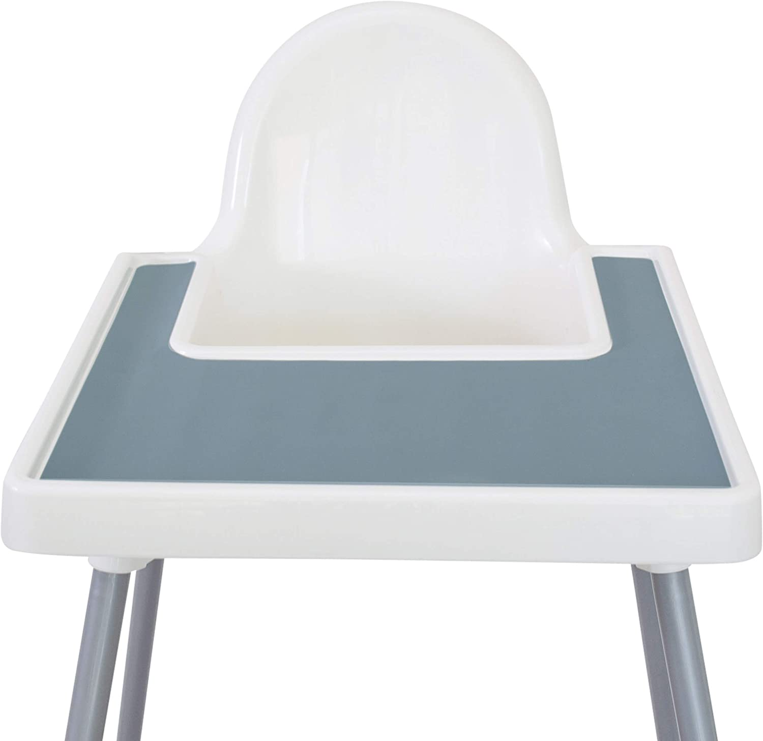 Mango Co. High Chair Placemat for Antilop Baby High Chair - BPA Free, Dishwasher Safe, Silicone Placemats - Finger Foods Placemat for Toddler and Baby (Ether Blue)