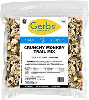 Gerbs Crunchy Monkey Snack Mix, 2 LBS. - Food Allergy Safe & Non GMO -Vegan & Kosher - Sweetened Banana Chips, Pumpkin Seeds, Sunflower Seeds, Dark Chocolate Chips