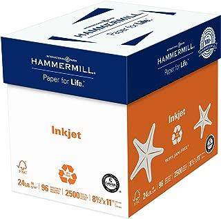 Hammermill Paper, Inkjet Multipurpose Paper, 8.5 x 11 Paper, Letter Size, 24lb Paper, 96 Bright, 5 Reams / 2500 Sheets (105050C) Acid Free Paper